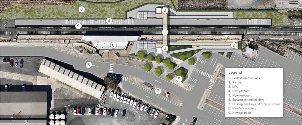 Wendouree Station forecourt concept image